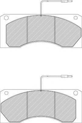 FERODO (НОМЕР: FCV1940) Комплект тормозных колодок, дисковый тормоз