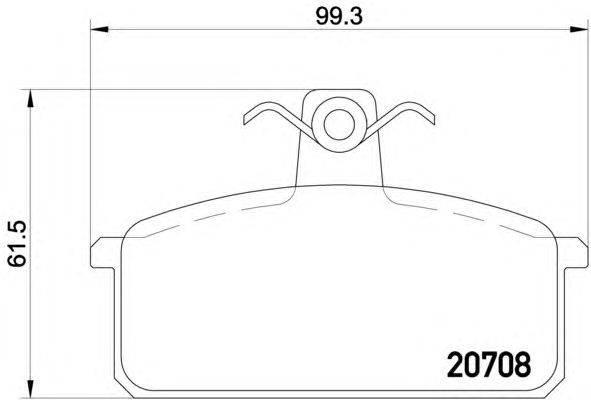Комплект тормозных колодок, дисковый тормоз MINTEX MDB1189