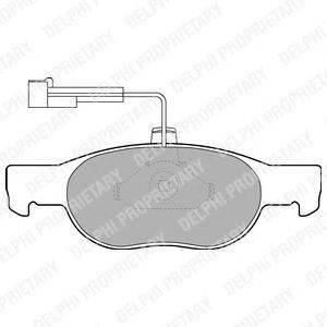 DELPHI (НОМЕР: LP1585) Комплект тормозных колодок, дисковый тормоз