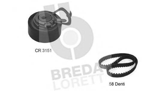 Комплект ремня ГРМ BREDA  LORETT KCD 0222