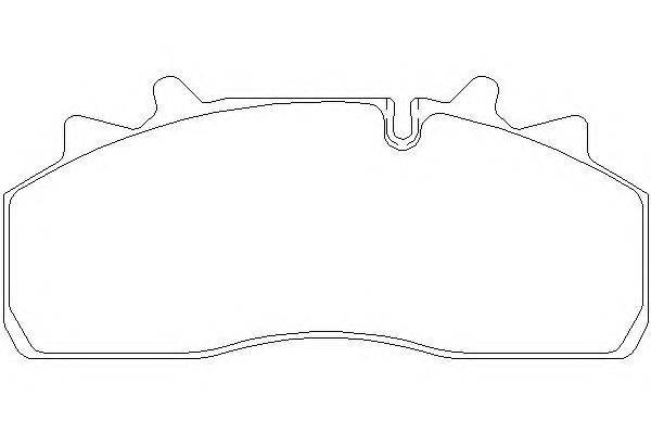 Комплект тормозных колодок, дисковый тормоз DON CVP090K