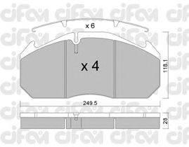CIFAM (НОМЕР: 822-586-0) Комплект тормозных колодок, дисковый тормоз