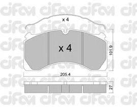 CIFAM (НОМЕР: 822-603-0) Комплект тормозных колодок, дисковый тормоз