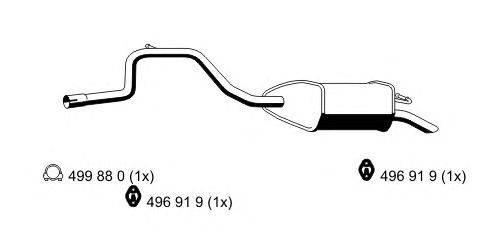 Глушитель выхлопных газов конечный ERNST 344081