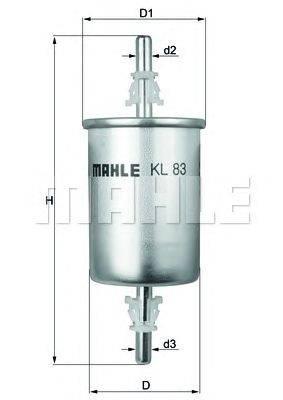 KNECHT (НОМЕР: KL 83) Топливный фильтр