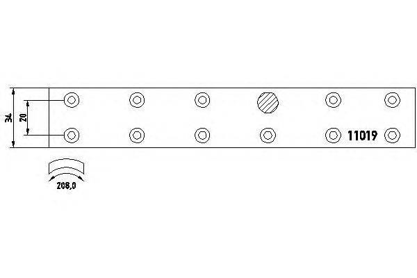Комплект тормозных башмаков, барабанные тормоза TEXTAR 1101901