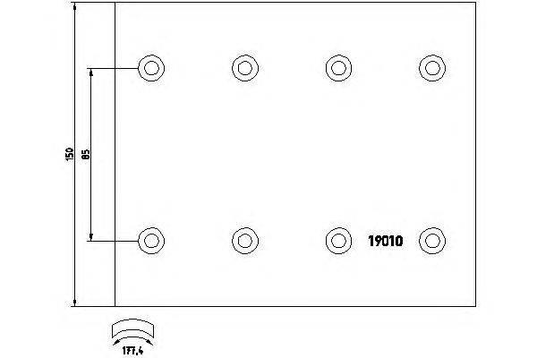 Комплект тормозных башмаков, барабанные тормоза TEXTAR 1901005