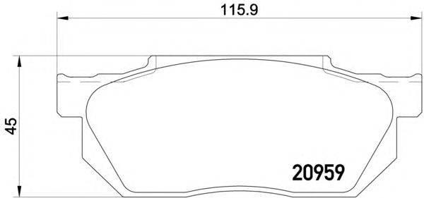 Комплект тормозных колодок, дисковый тормоз MINTEX MDB1241