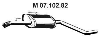 Средний глушитель выхлопных газов EBERSPÄCHER 07.102.82