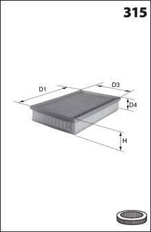 Воздушный фильтр MECAFILTER 139
