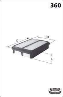 Воздушный фильтр MECAFILTER ELP3717