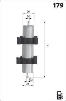 Топливный фильтр MECAFILTER ELG5300