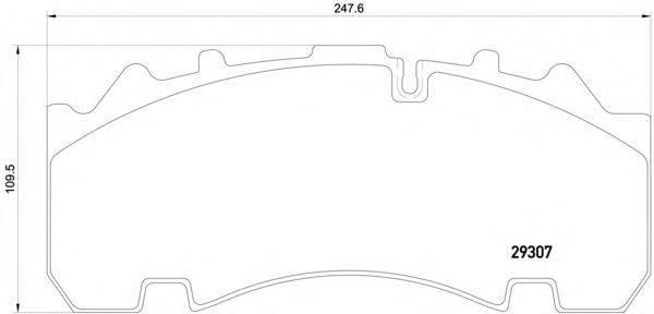 Комплект тормозных колодок, дисковый тормоз DON CVP093K