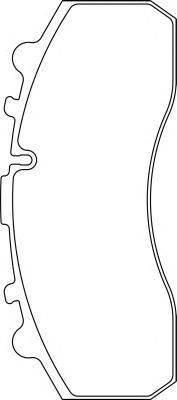 Комплект тормозных колодок, дисковый тормоз DON CVP020K
