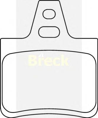 Комплект тормозных колодок, дисковый тормоз BRECK 20162 00 704 00