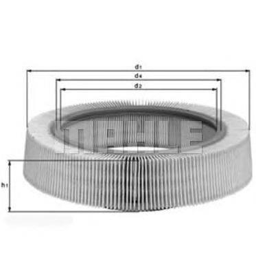 Воздушный фильтр MAHLE ORIGINAL LX114