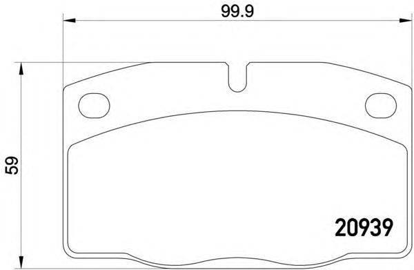 TEXTAR (НОМЕР: 2093903) Комплект тормозных колодок, дисковый тормоз