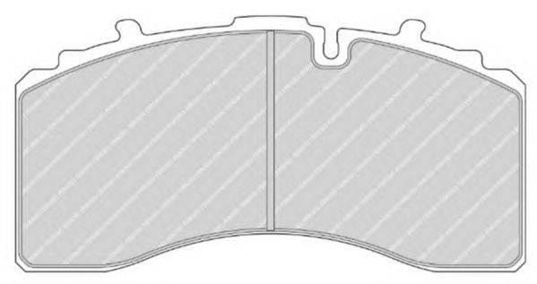 FERODO (НОМЕР: FCV4461BFE) Комплект тормозных колодок, дисковый тормоз