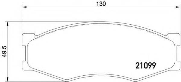 Комплект тормозных колодок, дисковый тормоз MINTEX MDB1279