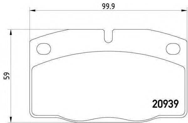 HELLA (НОМЕР: 8DB 355 007-251) Комплект тормозных колодок, дисковый тормоз
