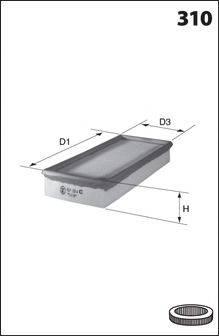 MECAFILTER (НОМЕР: 131) Воздушный фильтр