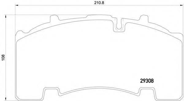 Комплект тормозных колодок, дисковый тормоз DON CVP094K