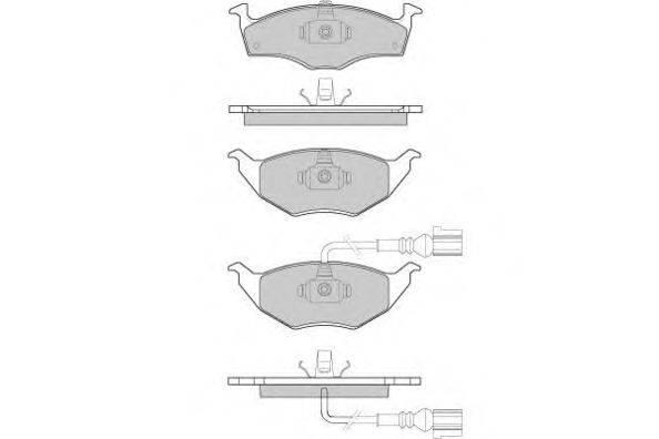 Комплект тормозных колодок, дисковый тормоз E.T.F. 12-1032