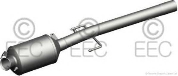 Сажевый / частичный фильтр, система выхлопа ОГ EEC DPF040