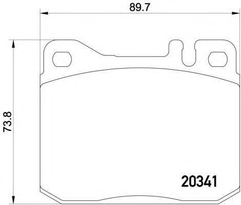 Комплект тормозных колодок, дисковый тормоз MINTEX MDB1180