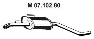 Средний глушитель выхлопных газов EBERSPÄCHER 07.102.80
