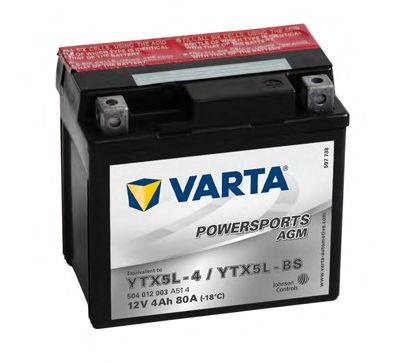 Стартерная аккумуляторная батарея; Стартерная аккумуляторная батарея VARTA 504012003A514