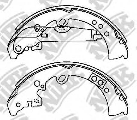 Комплект тормозных колодок NiBK FN0620