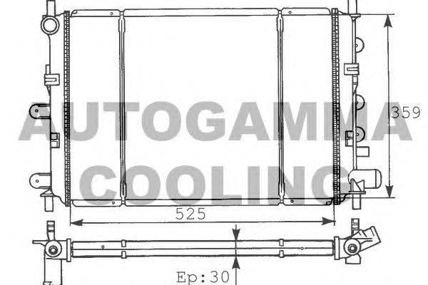 Радиатор, охлаждение двигателя AUTOGAMMA 100347