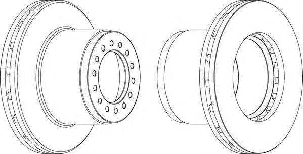 FERODO (НОМЕР: FCR189A) Тормозной диск