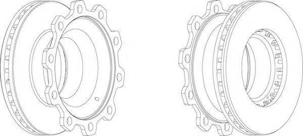 FERODO (НОМЕР: FCR205A) Тормозной диск
