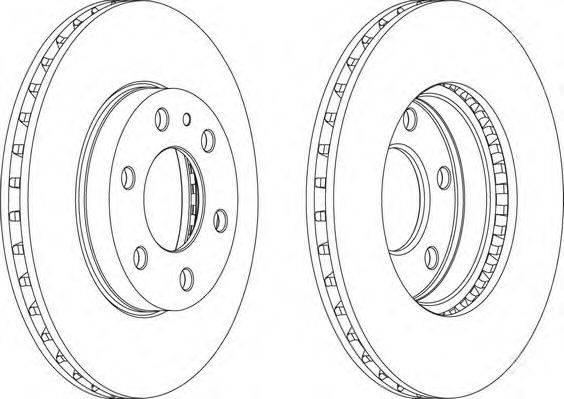 FERODO (НОМЕР: FCR314A) Тормозной диск