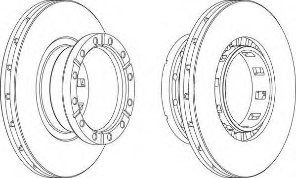FERODO (НОМЕР: FCR318A) Тормозной диск