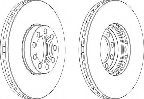 FERODO (НОМЕР: FCR329A) Тормозной диск