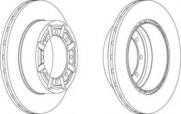 FERODO (НОМЕР: FCR340A) Тормозной диск