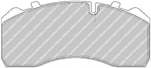 FERODO (НОМЕР: FCV1275BFE) Комплект тормозных колодок, дисковый тормоз