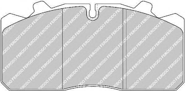 FERODO (НОМЕР: FCV1279) Комплект тормозных колодок, дисковый тормоз