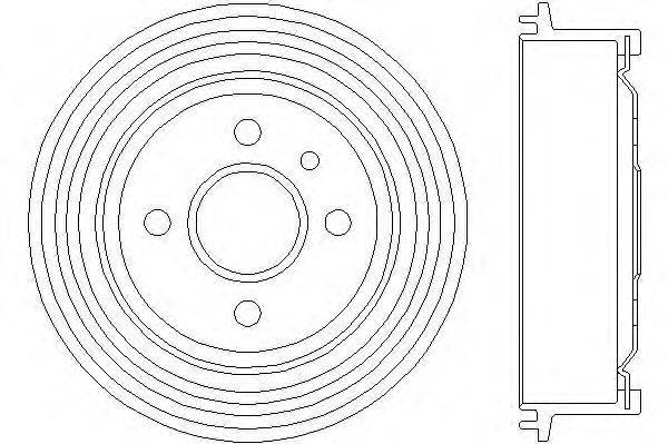 Тормозной барабан MINTEX MBD002