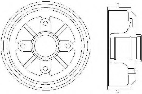 Тормозной барабан MINTEX MBD035