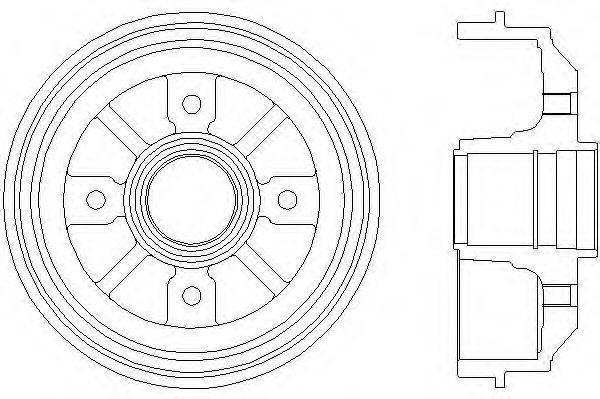 Тормозной барабан MINTEX MBD025