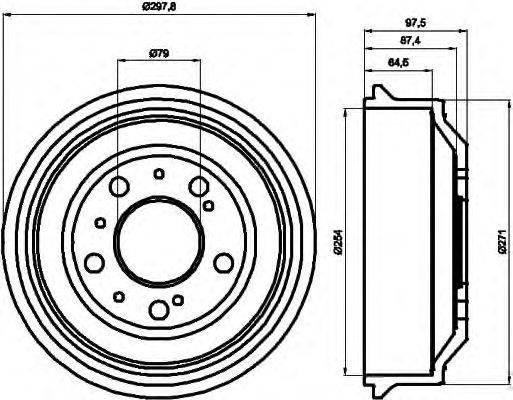 Тормозной барабан MINTEX MBD037