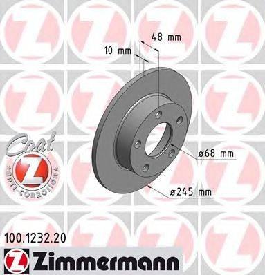 Тормозной диск ZIMMERMANN 100.1232.20