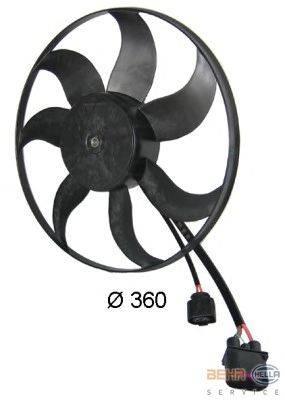 Вентилятор, охлаждение двигателя BEHR HELLA SERVICE 8EW 351 039-171