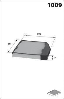 Фильтр, воздух во внутренном пространстве MECAFILTER CLR7120