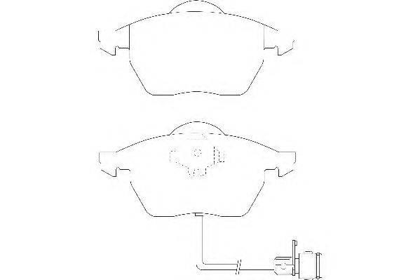 Комплект тормозных колодок, дисковый тормоз WAGNER WBP20676D