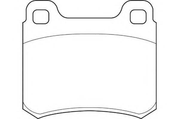 Комплект тормозных колодок, дисковый тормоз WAGNER WBP20687B